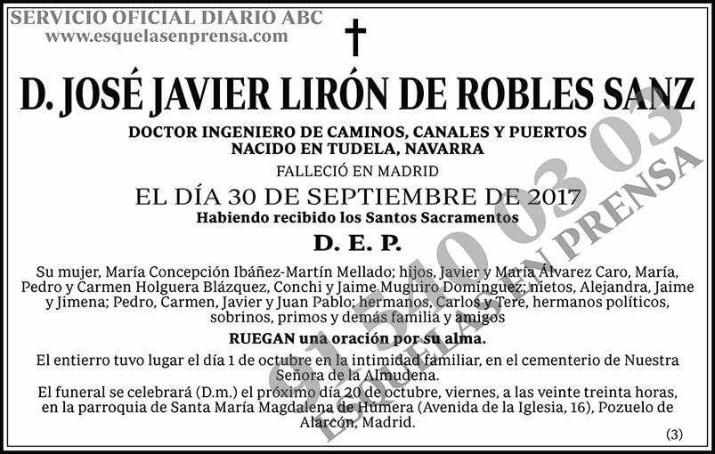 José Javier Lirón de Robles Sanz